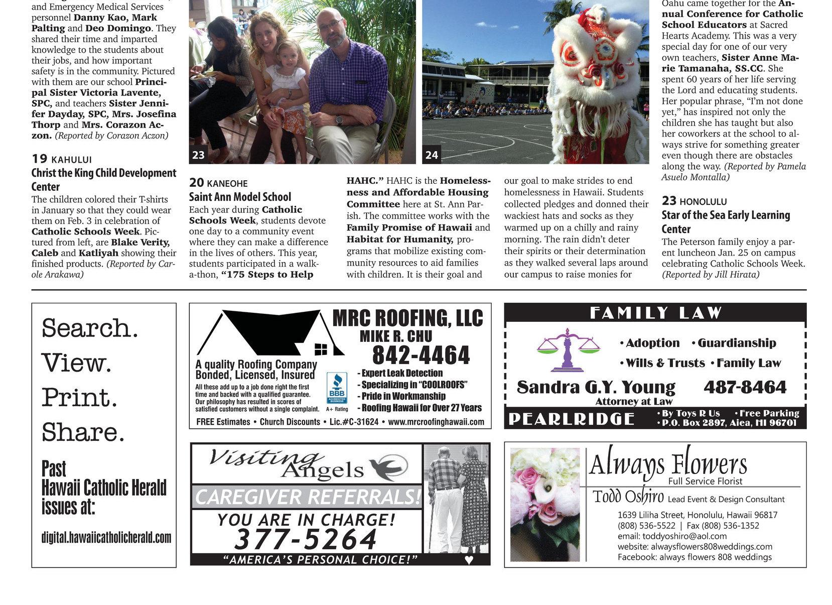 Hawaii Catholic Herald E Edition 02 26 2016 14