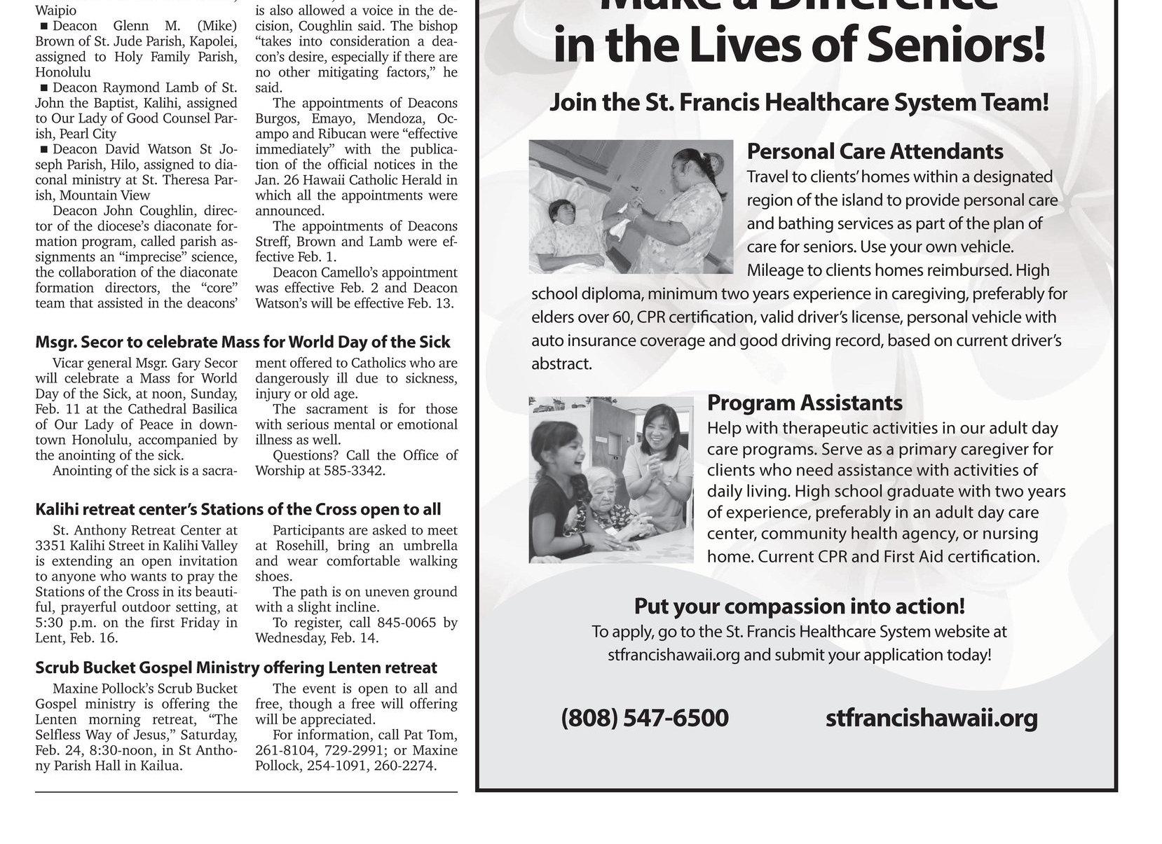Hawaii Catholic Herald 02 09 2018 E Edition Page 9